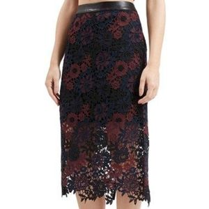 Topshop lace overlay skirt
